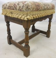 Upholstered Dressing Stool by Old Charm - SOLD